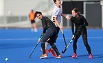 Kayla Whitelock (L) and Sam Charlton. . Blacksticks Women training, National Hockey Centre, Auckland, Saturday 27 March 2021. Photo: Simon Watts/www.bwmedia.co.nz