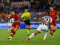 Calcio, Serie A: AS Roma vs Udinese, Olympic stadium, September 23, 2021.<br /> Roms's Stephan El Shaarawy (L) in action during the Italian Serie A football match between Roma and Udinese at Rome's Olympic stadium, on September 23, 2021.<br /> UPDATE IMAGES PRESS/Isabella  Bonotto