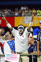 USA fan. The USA lost 3-1 against Poland in the FIFA World Cup 2002 in Korea on June 14, 2002.
