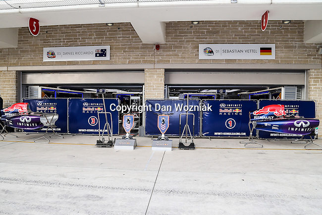 F1 racing teams getting ready for this weekends Formula 1 United States Grand Prix race at the Circuit of the Americas race track in Austin,Texas.