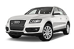 Low aggressive front three quarter view of a 2009 - 2012 Audi Q5 Ambiente 5 Door Suv 4WD