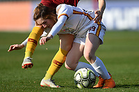 Noemi Visentin of Roma CF in action during the Women Italy cup round of 8 second leg match between AS Roma and Roma Calcio Femminile at stadio delle tre fontane, Roma, February 20, 2019 <br /> Foto Andrea Staccioli / Insidefoto