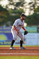 Tri-City ValleyCats third baseman Abraham Toro-Hernandez (31) during a game against the Batavia Muckdogs on July 15, 2017 at Dwyer Stadium in Batavia, New York.  Tri-City defeated Batavia 5-4.  (Mike Janes/Four Seam Images)