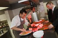 Europe/France/Rhone-Alpes/74/Haute-Savoie/Megève:  Emmanuel Renault dit Manu en cuisine - Restaurant: Flocons de Sel - Route de Rochebrune