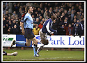 25/1/03       Copyright Pic : James Stewart                  .File Name : stewart-falkirk v hearts 09.COLLIN SAMUEL STARTS HIS CELEBRATION AFTER HE SCORES FALKIRK'S SECOND GOAL.......James Stewart Photo Agency, 19 Carronlea Drive, Falkirk. FK2 8DN      Vat Reg No. 607 6932 25.Office : +44 (0)1324 570906     .Mobile : + 44 (0)7721 416997.Fax     :  +44 (0)1324 570906.E-mail : jim@jspa.co.uk.If you require further information then contact Jim Stewart on any of the numbers above.........