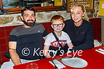 Enjoying the evening in the Horseshoe Bar in Listowel on Thursday, l to r: Kieran O'Flaherty, Michael Beasley and Lisa O'Flaherty.