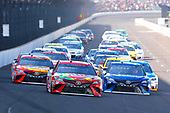Monster Energy NASCAR Cup Series<br /> Brickyard 400<br /> Indianapolis Motor Speedway, Indianapolis, IN USA<br /> Sunday 23 July 2017<br /> Kyle Busch, Joe Gibbs Racing, Skittles Toyota Camry, Martin Truex Jr, Furniture Row Racing, Auto-Owners Insurance Toyota Camry and Matt Kenseth, Joe Gibbs Racing, Tide Pods Toyota Camry<br /> World Copyright: Russell LaBounty<br /> LAT Images