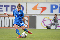 20190304 - LARNACA , CYPRUS : Italian defender Lisa Boattin pictured during a women's soccer game between Italy and Thailand , on Monday 4 March 2019 at the AEK Arena in Larnaca , Cyprus . This is the third game in group B for both teams during the Cyprus Womens Cup 2019 , a prestigious women soccer tournament as a preparation on the FIFA Women's World Cup 2019 in France . PHOTO SPORTPIX.BE | STIJN AUDOOREN
