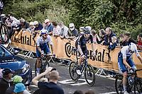 Cees Bol (NED/DSM) up de Mûr-de-Bretagne <br /> <br /> Stage 2 from Perros-Guirec to Mûr-de-Bretagne, Guerlédan (184km)<br /> 108th Tour de France 2021 (2.UWT)