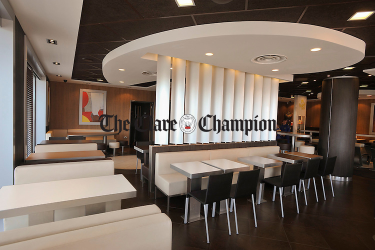 A view of the interior of Mc Donald's Ennis. Photograph by John Kelly.