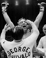 Boxer George Chuvalo<br /> <br /> Photo : Boris Spremo - Toronto Star archives - AQP