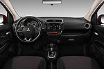 Stock photo of straight dashboard view of 2017 Mitsubishi Space-Star Instyle 5 Door Hatchback Dashboard