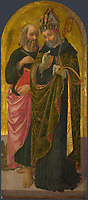 Full title: Saint Mark and Saint Augustine<br /> Artist: Zanobi Machiavelli<br /> Date made: probably about 1470<br /> The National Gallery, London