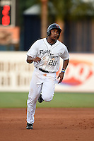 Lakeland Flying Tigers third baseman Francisco Martinez (20) running the bases during a game against the Palm Beach Cardinals on April 13, 2015 at Joker Marchant Stadium in Lakeland, Florida.  Palm Beach defeated Lakeland 4-0.  (Mike Janes/Four Seam Images)