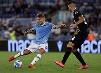 28th August 2021; Olympic Stadium, Rome, Italy; Serie A football, SS Lazio versus AC Spezia : Ciro Immobile of Lazio turns to shoot on goal