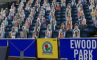 3rd October 2020; Ewood Park, Blackburn, Lancashire, England; English Football League Championship Football, Blackburn Rovers versus Cardiff City; virtual Blackburn Rovers fans look on from the stand
