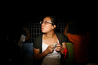 CHINA. Beijing. Spectators near the Olympic village during the Beijing 2008 Summer Olympics. 2008