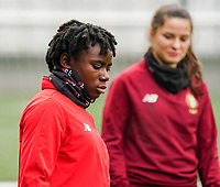 Welma Fon (2 Standard) during the warm up before a female soccer game between Standard Femina de Liege and RSC Anderlecht on the 9th matchday of the 2020 - 2021 season of Belgian Scooore Womens Super League , saturday 12 th of December 2020  in Angleur , Belgium . PHOTO SPORTPIX.BE | SPP | SEVIL OKTEM