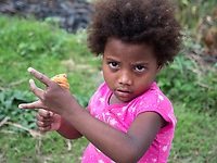 Tribal Aeta children from this specific part of the Philippines, the Aetas are famous for their survival skills  Pampanga, Philippines