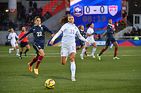 Lorient, France. - Sunday, February 8, 2015:  Alex Morgan (13) of the USWNT. France defeated the USWNT 2-0 during an international friendly at the Stade du Moustoir.