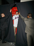 """All-Star third baseman David Wright - The first Met Player immortalized in  wax -  will meet the lucky winner of last week's Mets """"Fandemonium"""" contest at Madame Tussauds on 42nd Street in Times Square, New York City.<br /> April 10, 2007"""