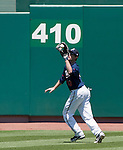 Reno Aces center fielder Tyler Graham makes the catch against the Sacramento River Cats during their game played on Tuesday afternoon, July 31, 2012 in Reno, Nevada.