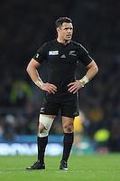 Dan Carter of New Zealand during the Rugby World Cup Final between New Zealand and Australia - 31/10/2015 - Twickenham Stadium, London<br /> Mandatory Credit: Rob Munro/Stewart Communications