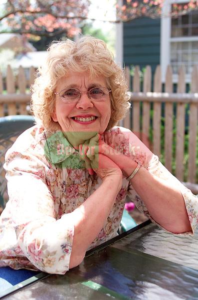 portrait of smiling, friendly elderly woman