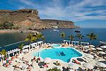 Spain, Canary Islands, Gran Canaria, Puerto de Mogan: Hotel Club de Mar, Pool | Spanien, Kanaren, Gran Canaria, Puerto de Mogan: Hotel Club de Mar, Pool