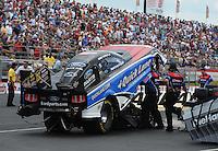 May 14, 2011; Commerce, GA, USA: NHRA funny car driver Bob Tasca III during qualifying for the Southern Nationals at Atlanta Dragway. Mandatory Credit: Mark J. Rebilas-