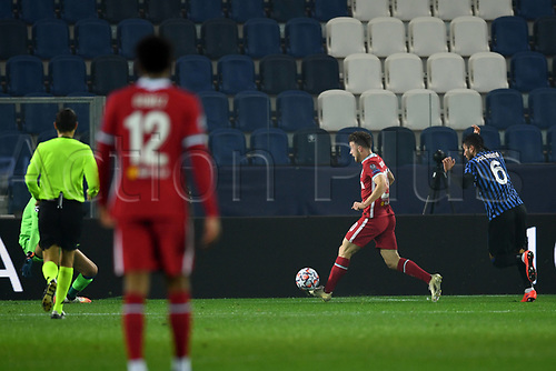 3rd November 2020; Bergamo, Lombardy, Italy. UEFA Champions League football, group stages, Atalanta versus Liverpool FC;  Goal scores by Diogo Jota (liv) for 0-1
