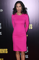 """NEW YORK, NY - FEBRUARY 04: Padma Lakshmi at the New York Premiere Of Columbia Pictures' """"The Monuments Men"""" held at Ziegfeld Theater on February 4, 2014 in New York City, New York. (Photo by Jeffery Duran/Celebrity Monitor)"""