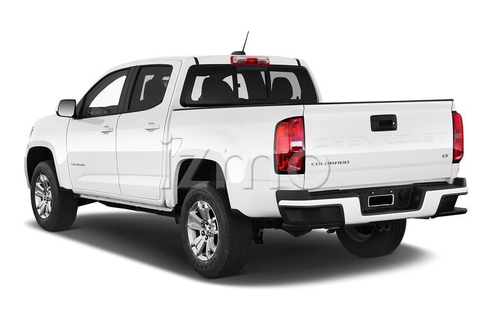 Rear three quarter view of a 2021 Chevrolet Colorado LT 4 Door Trucks