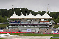 A rainy morning at the Hampshire Bowl during India vs New Zealand, ICC World Test Championship Final Cricket at The Hampshire Bowl on 21st June 2021