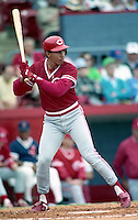 Cincinnati Reds Freddie Benavides during spring training circa 1991 at Chain of Lakes Park in Winter Haven, Florida.  (MJA/Four Seam Images)