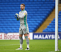 26th December 2020; Cardiff City Stadium, Cardiff, Glamorgan, Wales; English Football League Championship Football, Cardiff City versus Brentford; Alex Smithies of Cardiff City prepares for the corner