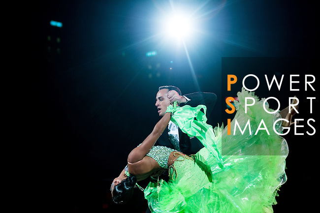 Francesco Galuppo and Debora Pacini of Italy during the Day 2 of the WDSF GrandSlam Hong Kong 2014 on June 01, 2014 at the Queen Elizabeth Stadium Arena in Hong Kong, China. Photo by AItor Alcalde / Power Sport Images