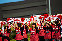Georgia Bulldogs vs Arkansas Razorback Women's Soccer -   Girls soccer team call the Hogs at the end of the game against Georgia at Razorback Field, Fayetteville, AR on Sunday, October 27, 2019 - Special to NWA Democrat Gazette David Beach