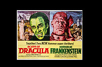 BNPS.co.uk (01202) 558833. <br /> Pic: SpecialAuctionServices/BNPS<br /> <br /> Two New Hammer super thrillers! Scars of Dracula and Horror of Frankenstein<br /> <br /> A collection of rare movie posters that have been sat gathering dust in a garage have sold at auction for £6,500.<br /> <br /> The 32 sheets date from the 1950s to the '70s and promote classic movies such as Frankenstein and Christopher Lee's Dracula.<br /> <br /> The vendor had owned the posters for several years after she had inherited them from a relative.