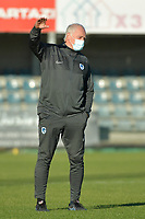 Genk's head coach Guido Brepoels  pictured during a female soccer game between Eendracht Aalst and Racing Genk on the fifth matchday of the 2020 - 2021 season of Belgian Scooore Womens Super League , Saturday 28 th of November 2020  in Aalst , Belgium . PHOTO SPORTPIX.BE | SPP | DIRK VUYLSTEKE