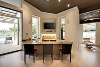 Wet bar in modern home