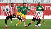 Alan Browne of Preston North End passes the ball upfield during Brentford vs Preston North End, Sky Bet EFL Championship Football at Griffin Park on 15th July 2020