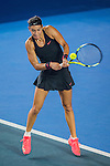 Caroline Garcia of France in action against Anastasiya Komardina of Rusia during the WTA Prudential Hong Kong Tennis Open at the Victoria Park Stadium on 15 October 2015 in Hong Kong, China. Photo by Aitor Alcalde / Power Sport Images