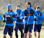 Kevin Mbabu and Belil Mohsni chatting together at training