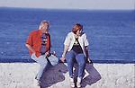 SENIOR COUPLE ENJOY SEA BREEZE AT SEA OF CORTEZ