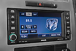 Stereo audio system close up detail view of a 2008 Dodge Charger Dub