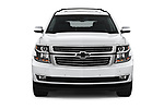 Car photography straight front view of a 2018 Chevrolet Tahoe Premier 2WD 5 Door SUV
