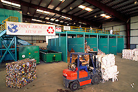 Municipal Recycling Facility, known in the trade as a murf, where recyclables are reclaimed and sorted from waste stream. Houston Texas.
