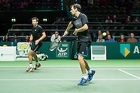Rotterdam, The Netherlands, February 12, 2016,  ABNAMROWTT, Philipp Petzschner (GER) / Alexander Peya (AUT)<br /> Photo: Tennisimages/Henk Koster