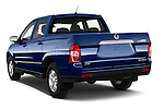 Car pictures of rear three quarter view of2014 Ssangyong Actyon Sports Quartz 4 Door Pick Up Angular Rear